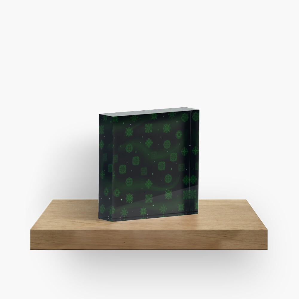 Dark Jungle Gems Acrylic Block