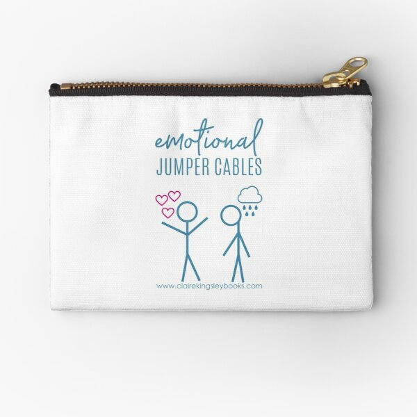 Emotional Jumper Cables Zipper Pouch