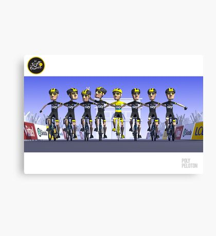 #PolyPeloton : Chris Froome Wins Canvas Print