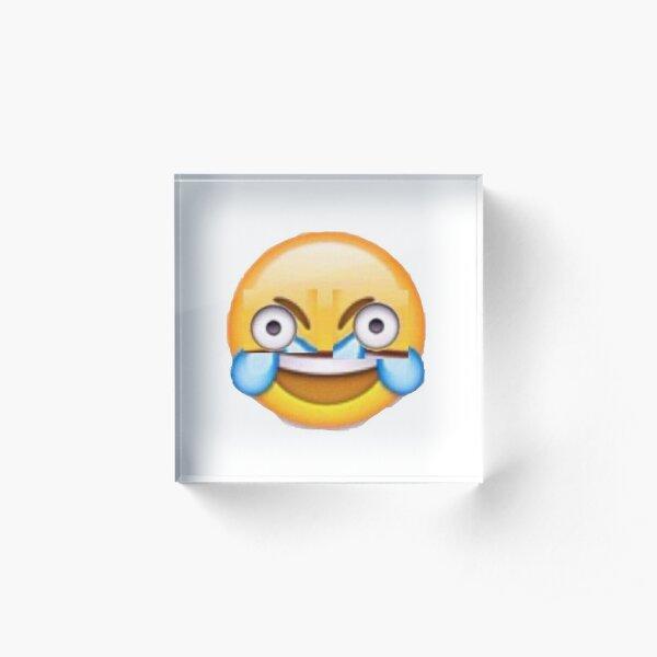 Demented Smiley Emoji Acrylic Block