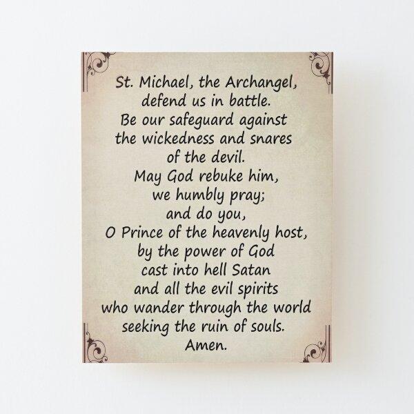 The Saint Michael's Prayer Wood Mounted Print