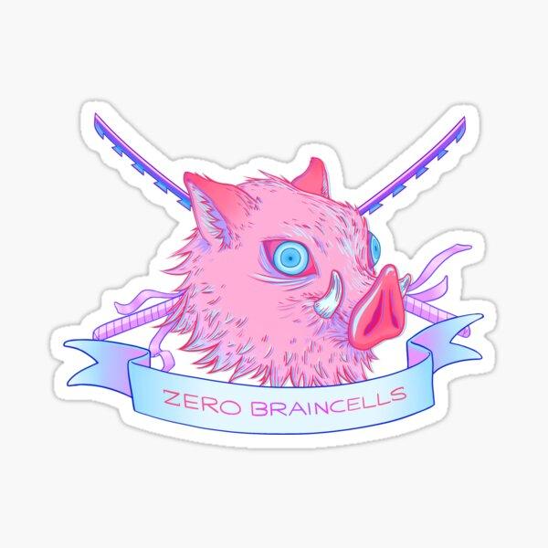 Zero Braincells Sticker