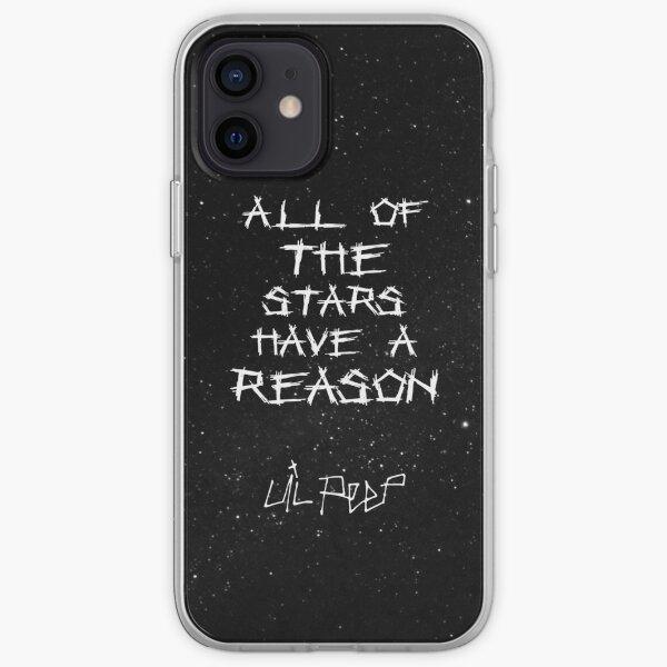Lil Peep Star Shopping Letras Fondo estrellado Funda blanda para iPhone