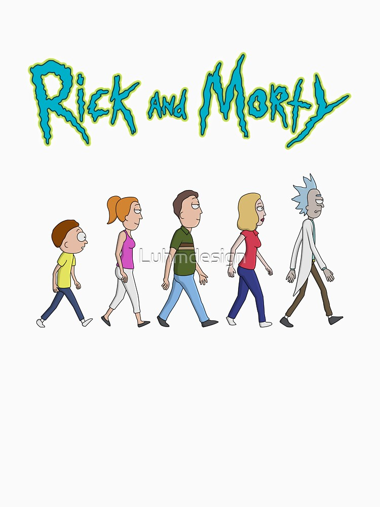 Rick and Morty -Family Together Walking by Luhmdesign