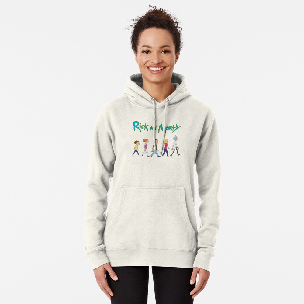 Rick and Morty -Family Together Walking Pullover Hoodie