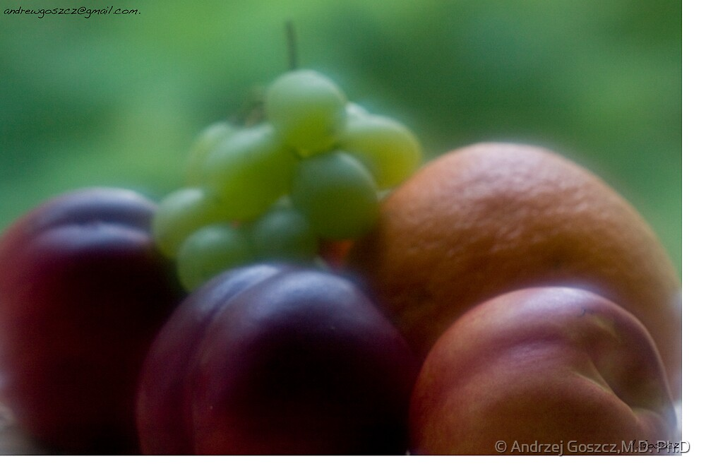 Artistic Brainstorms  about Still Life with Fruit . by Brown Sugar.  Views (56) thank you friends ! by © Andrzej Goszcz,M.D. Ph.D