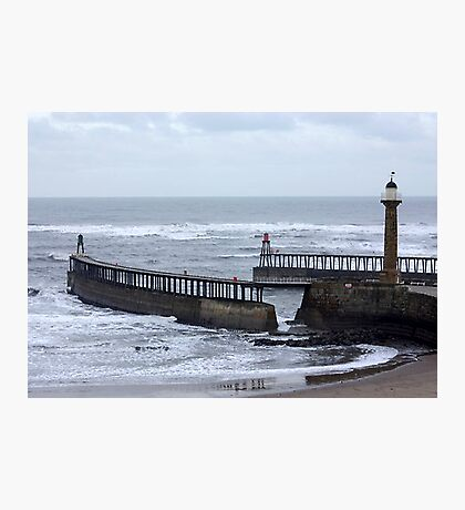 Entrance to Whitby Harbour Photographic Print