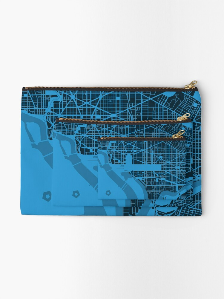 Alternate view of Map of Washington, DC Zipper Pouch