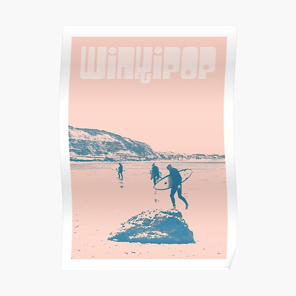 Winkipop - Bells Beach Surfers travel poster Poster