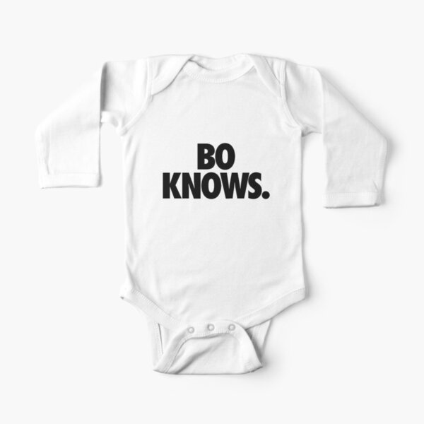 Bo Knows - Black Long Sleeve Baby One-Piece