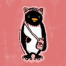 Pink Kitty Penguin by elledeegee