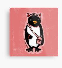 Pink Kitty Penguin Metal Print