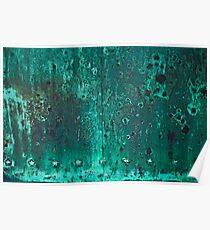 Green Stars - Aged Copper Door Poster