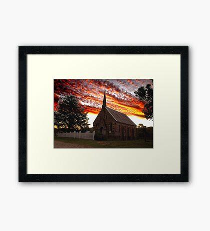 Sunset over St Paul's- Hill End Framed Print