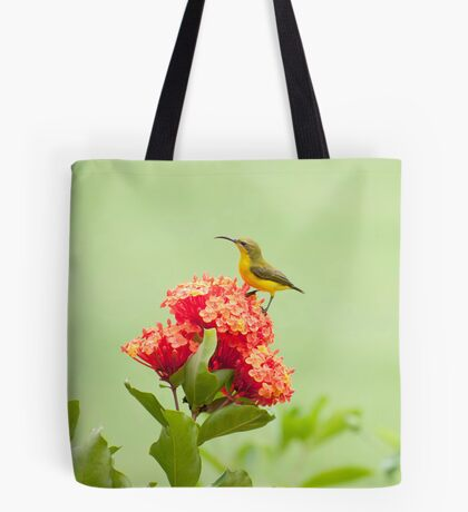 Little Sweety - yellow bellied sunbird Tote Bag