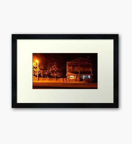 The Grocer by Night- Hill End Framed Print