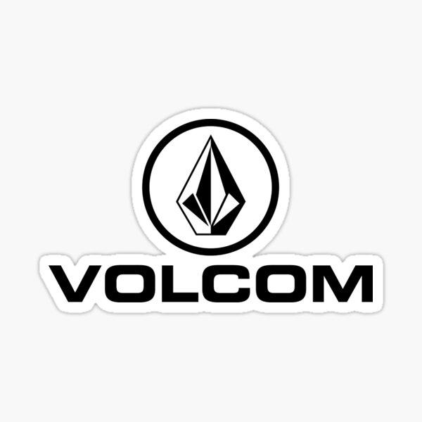 Volcom Stone Potrait Logo Noir Blanc Sticker