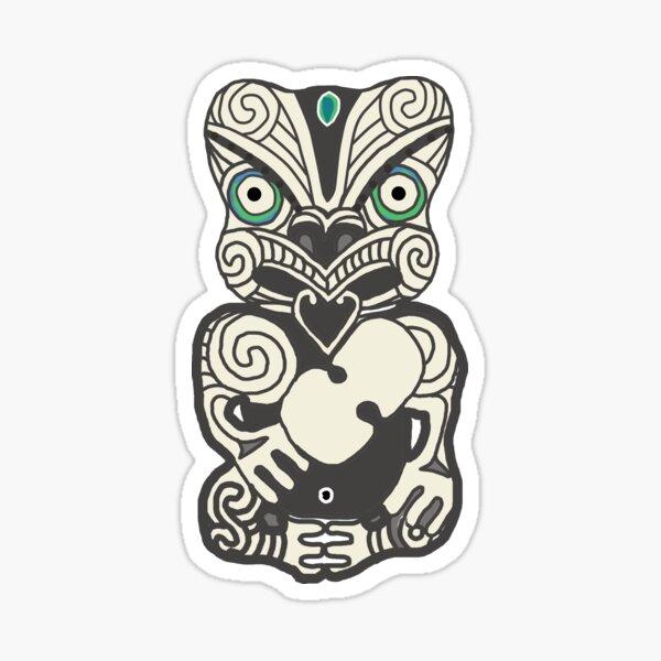 NZ Maori Tiki Sticker