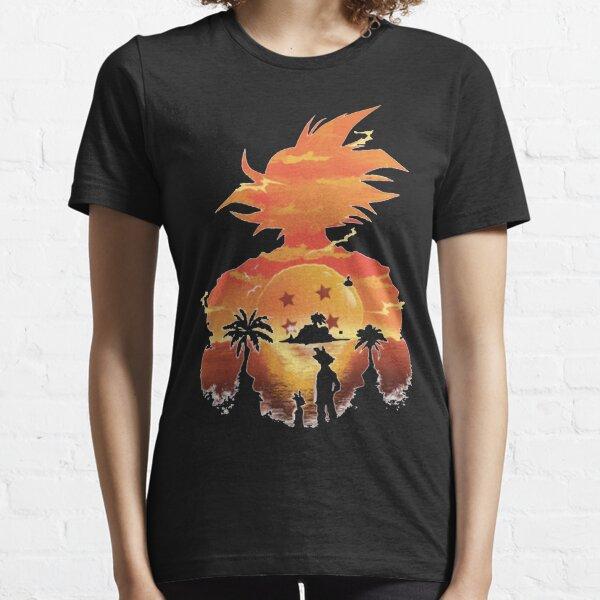GOKU SILHOUTTE SUNSET Essential T-Shirt