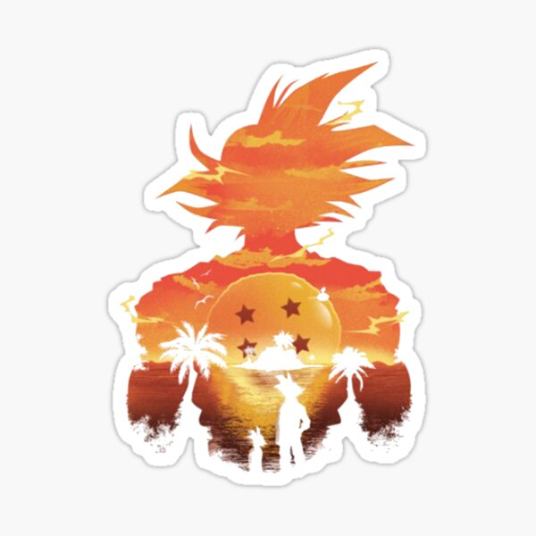 GOKU SILHOUTTE SUNSET Sticker