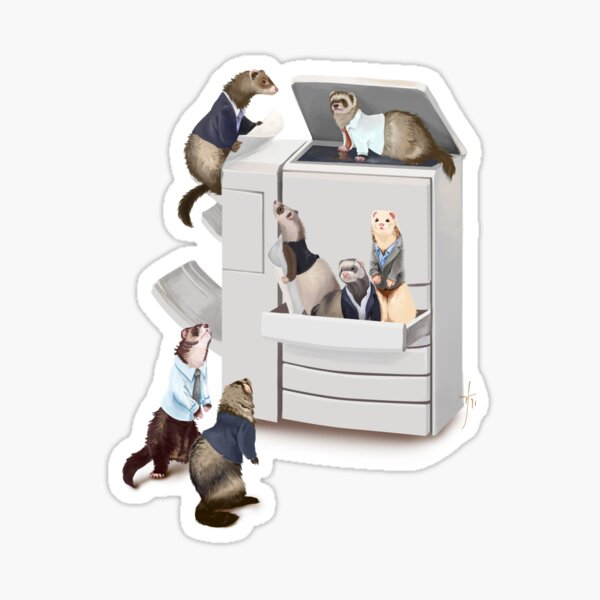 Business of Ferrets Sticker