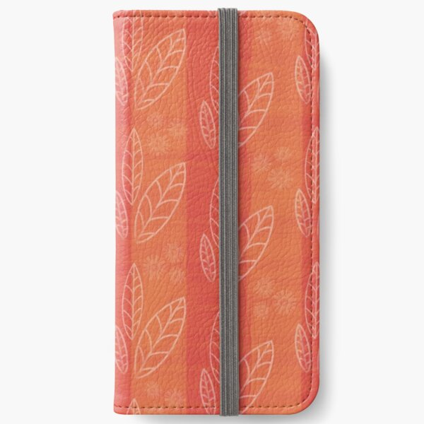 Orange leaf collection  iPhone Wallet