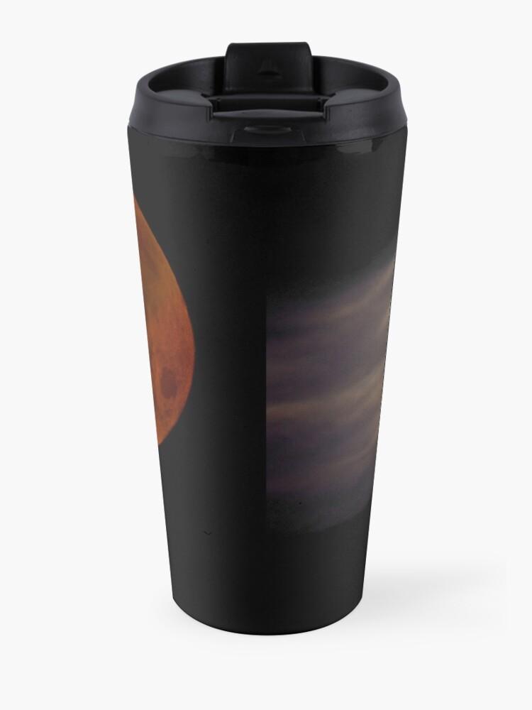 Alternate view of Lunar Eclipse with Cloud,  Travel Mug