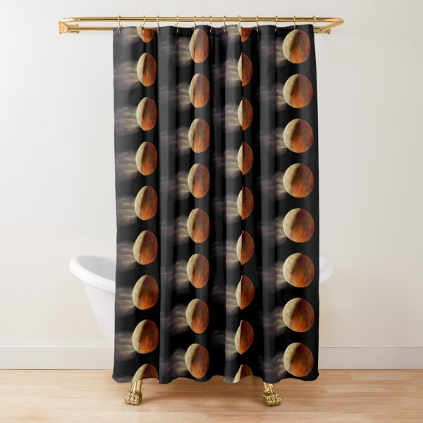 Lunar Eclipse with Cloud,  Shower Curtain