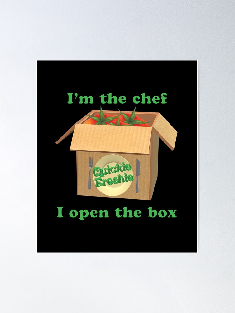 Alternate view of Boxed Meals. Cooking in the 21st Century. Poster