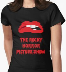 8-Bit Rocky Horror Lips Women's Fitted T-Shirt
