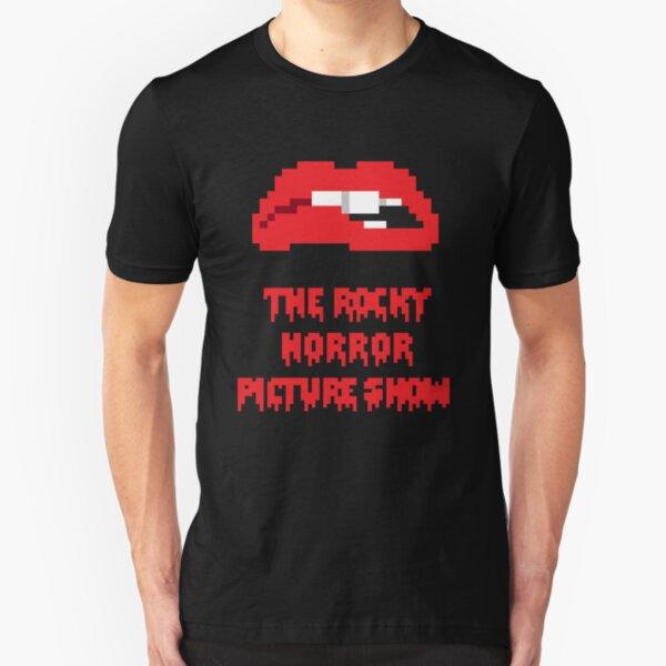 8-Bit Rocky Horror Lips Slim Fit T-Shirt