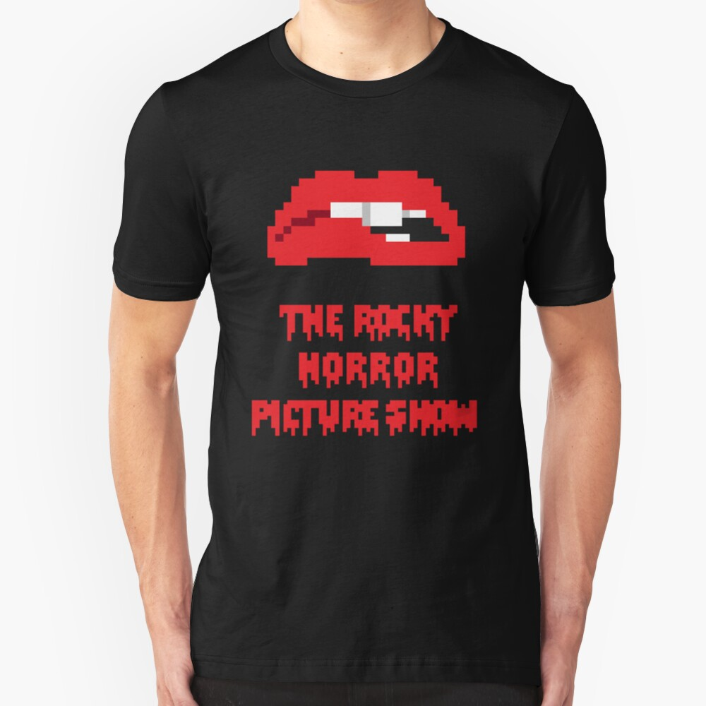 8-Bit Rocky Horror Lips Slim Fit T-Shirt