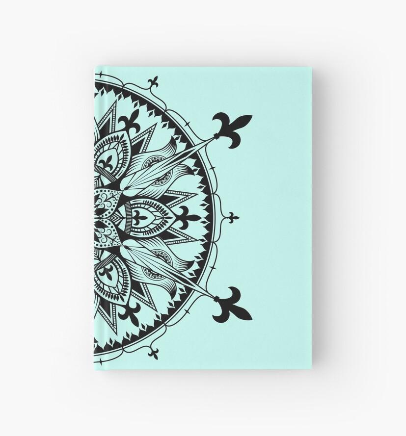 Fleur De Lys Mandala Hardcover Journals By Swanstardesigns Redbubble