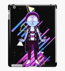 Morty Hovering with Death Crystal Cyberpunk iPad Case/Skin