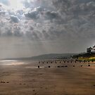 Sunrise at Sandsend  by Irene  Burdell