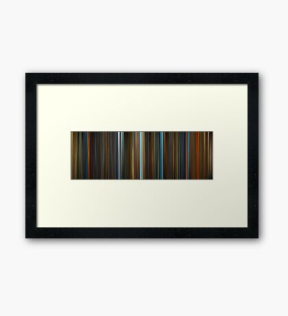Moviebarcode: Legend of the Guardians: The Owls of Ga'Hoole (2010) Framed Print