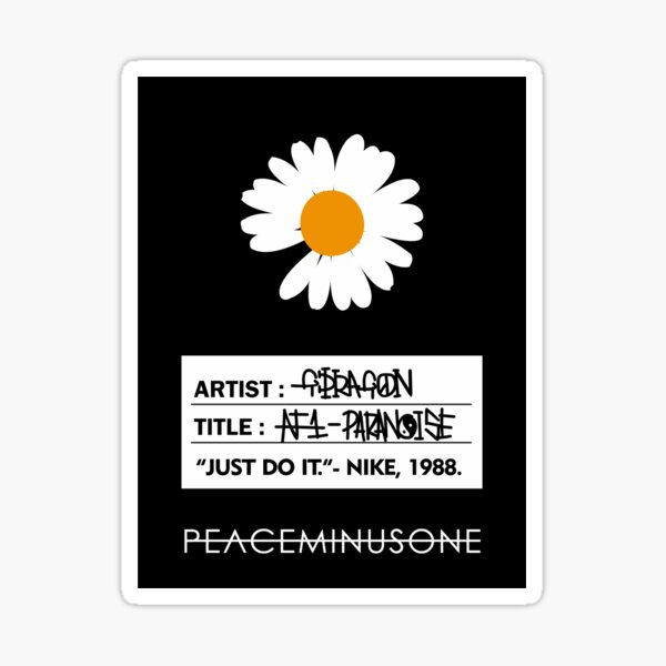 GDRAGON PARANOISE TAG Sticker