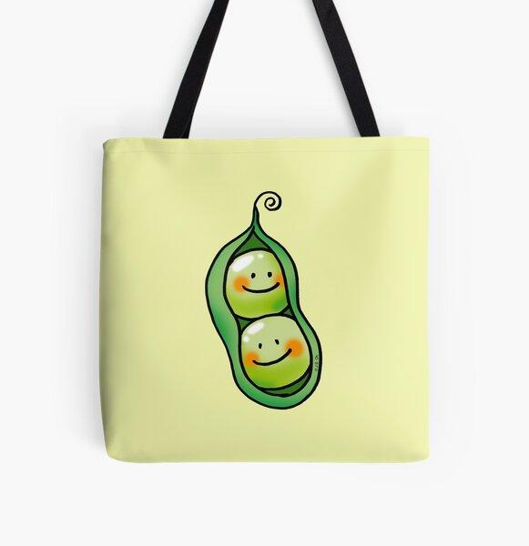 cute 2 peas in a pod All Over Print Tote Bag