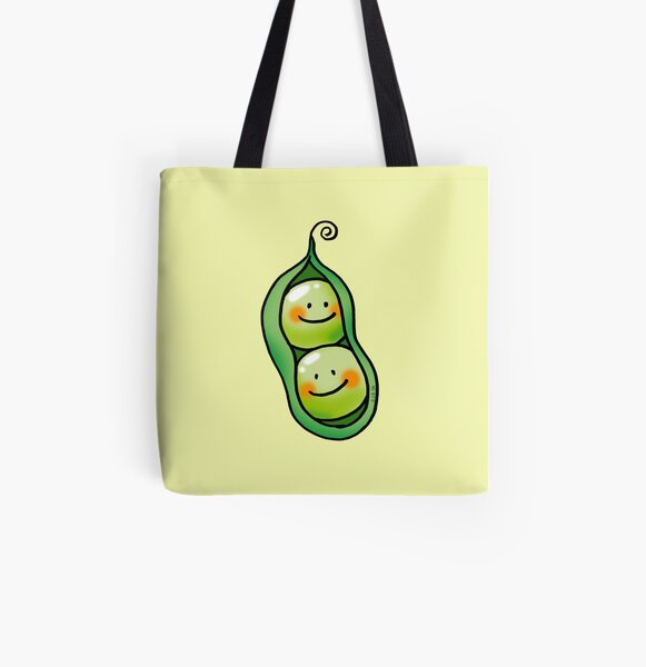 cute 2 peas in a pod All Over Print Tote Bag
