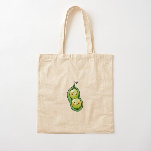 cute 2 peas in a pod Cotton Tote Bag