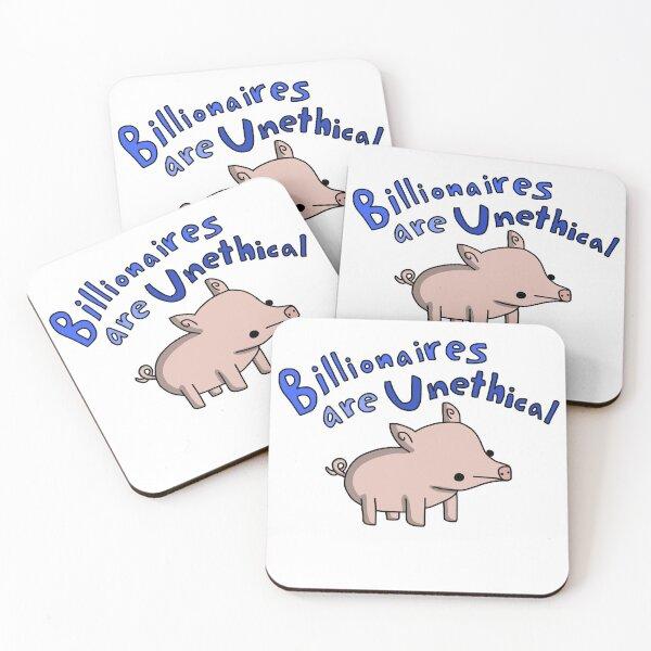 Anti-Billionaire Pig - Tiny Snek Comics Coasters (Set of 4)