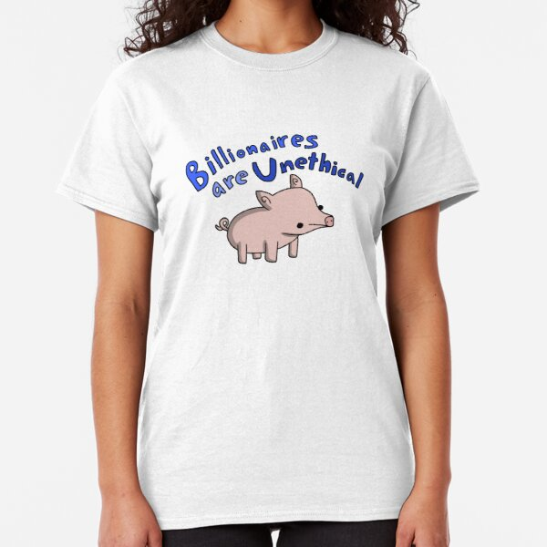 Anti-Billionaire Pig - Tiny Snek Comics Classic T-Shirt