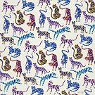 Tiger-Sammlung - Indigo-Palette von Cat Coquillette