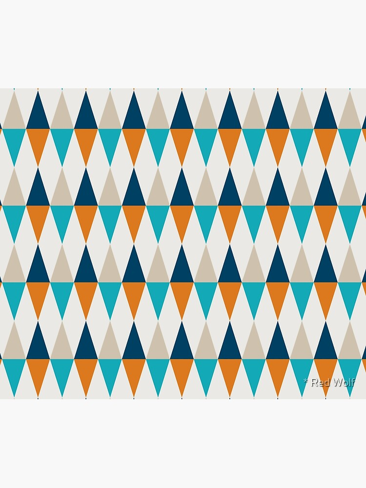 Geometric Pattern: Harlequin: Blue/Orange by redwolfoz