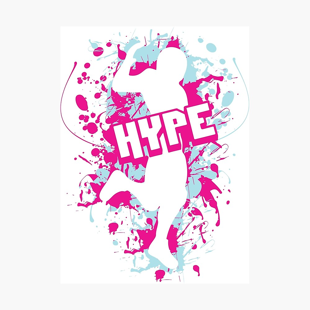 Gaming Hype Dance Emote Pink And Blue Poster By