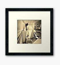 Retro diner girl Framed Print