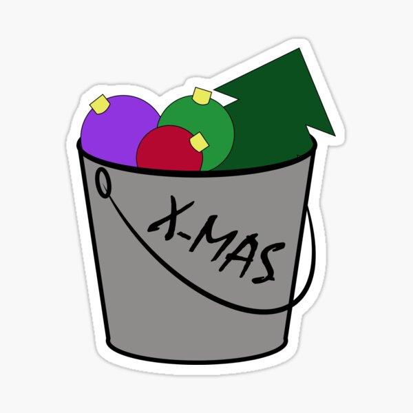 Big Bucket of Christmas Sticker