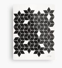Weihnachtsstern-Sterne - schwarze Palette Metallbild