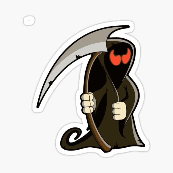 Cartoon Reaper Sticker