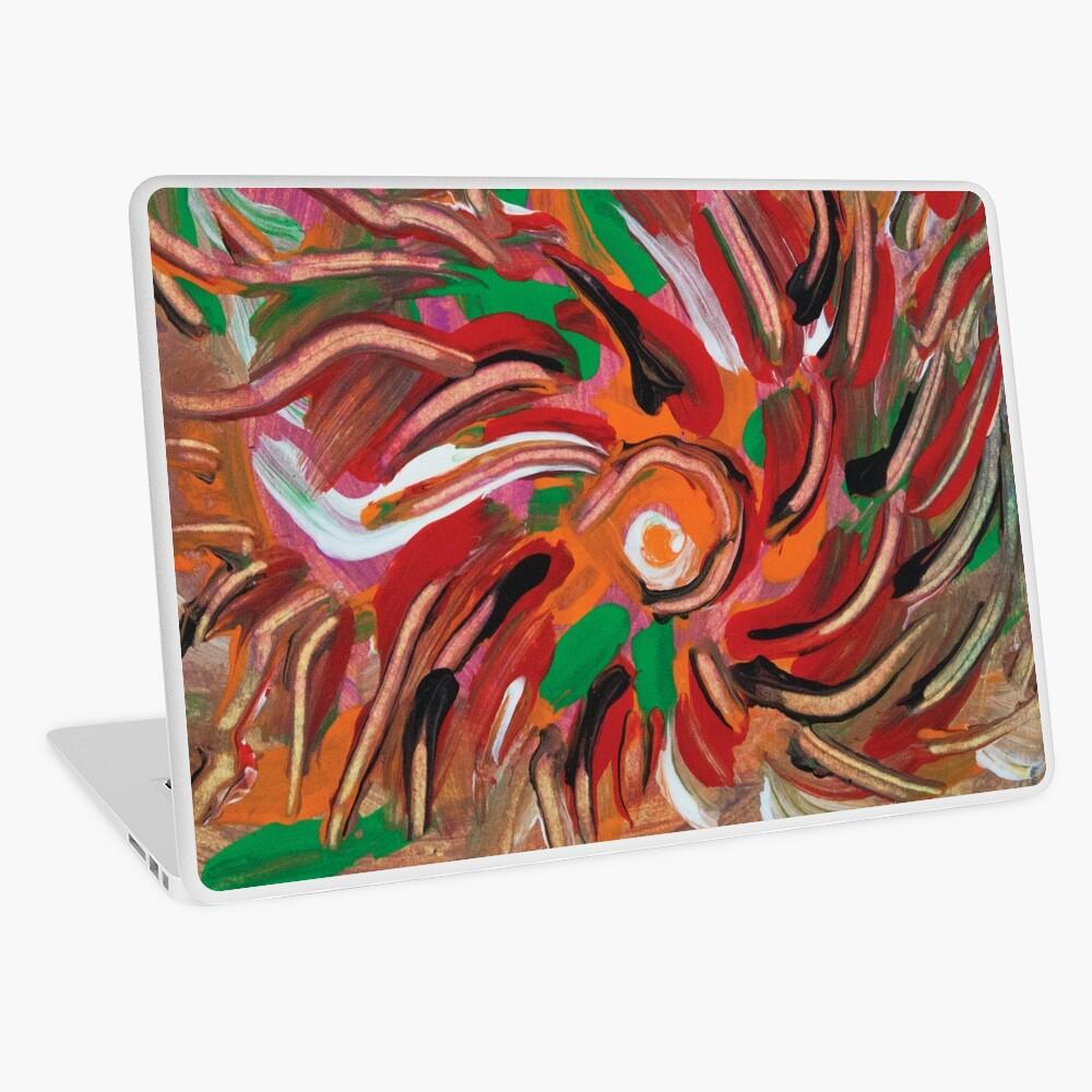 flaming vortex abstract Laptop Skin